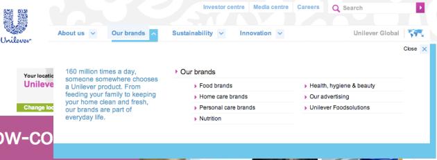 Unilever branding techniques: sub-branding