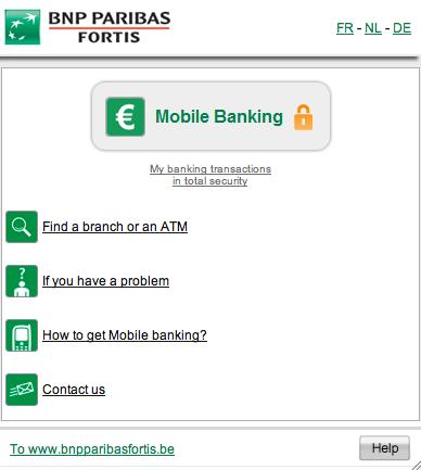 BNP Paribas Fortis - mobile banking