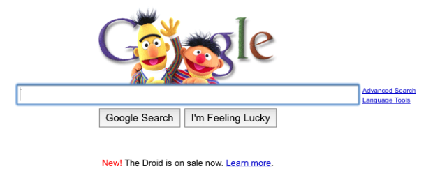 Google logo - bert&ernie style