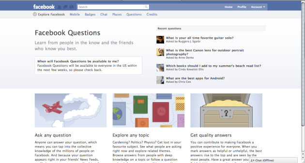 Facebook Questions' impact on R&D: crowdsourcing over Facebook?