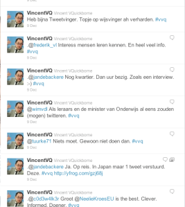 Citizen journalism: Twitter-interview with Minister of Belgium
