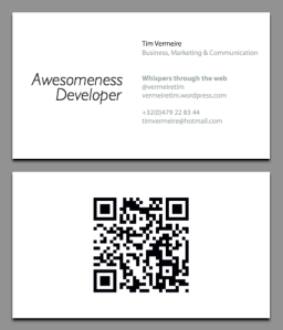 My future business card - final version