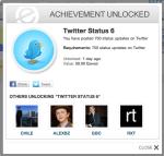 Twitter Status 6 achievement - empireavenue.com