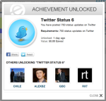 Twitter Status 6 achievement - empireavenue.com