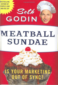 old vs new marketing: Meatball Sundae