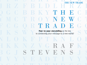 The New Trade - Book on Business Storytelling