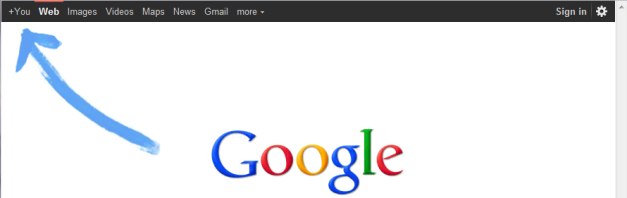 Google intelligently trying to give you a hint about it social network Google Plus