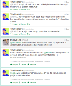 Employee engagement - NMBS unofficially provides me Customer Service
