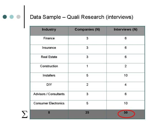 Quali Research Data Sample