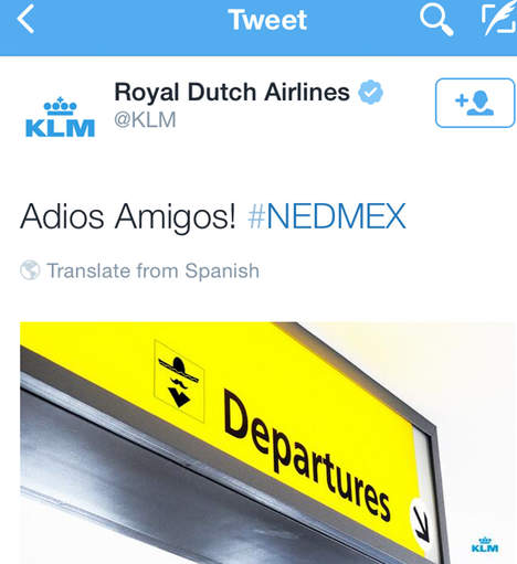 KLM worldcup tweet