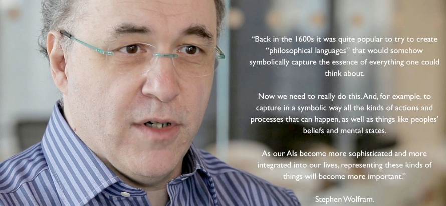 Stephen Wolfram in search for universal language in light of Artificial Intelligence.